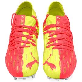 Buty piłkarskie dla dzieci Puma Future 5.1 Netfit Osg Fg Ag Junior 105946 01 czerwone żółte 2