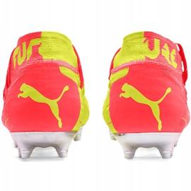 Buty piłkarskie dla dzieci Puma Future 5.1 Netfit Osg Fg Ag Junior 105946 01 czerwone żółte 4