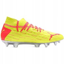 Buty piłkarskie dla dzieci Puma Future 5.1 Netfit Osg Fg Ag Junior 105946 01 czerwone żółte 1