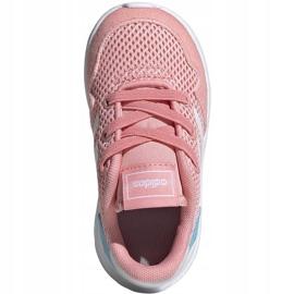 Buty dla dzieci adidas Archivo K różowe EG3980 białe niebieskie 1