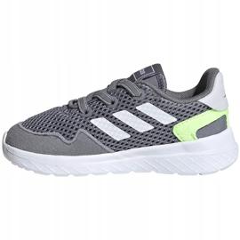 Buty dla dzieci adidas Archivo K szare EG3978 białe zielone 4