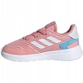 Buty dla dzieci adidas Archivo K różowe EG3980 białe niebieskie 2