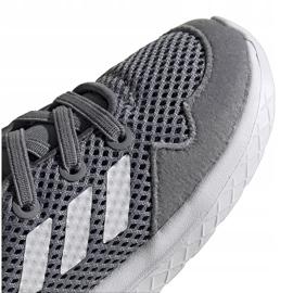 Buty dla dzieci adidas Archivo K szare EG3978 białe zielone 3