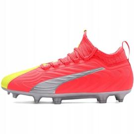 Buty piłkarskie dla dzieci Puma One 20.3 Osg Fg Ag 105972 01 czerwone 2