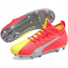 Buty piłkarskie dla dzieci Puma One 20.3 Osg Fg Ag 105972 01 czerwone 3