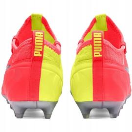 Buty piłkarskie dla dzieci Puma One 20.3 Osg Fg Ag 105972 01 czerwone 4