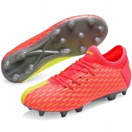 Buty piłkarskie dla dzieci Puma Future 5.4 Osg Fg Ag 105949 01 czerwone żółte 3