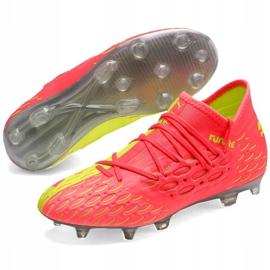 Buty piłkarskie dla dzieci Puma Future 5.3 Netfit Osg Fg Ag 105947 01 żółte 3