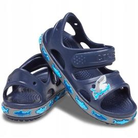 Crocs sandały dla dzieci Crocs Fl Shark Band Sandal B granatowe 206365 410 2