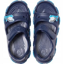 Crocs sandały dla dzieci Crocs Fl Shark Band Sandal B granatowe 206365 410 1