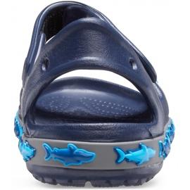 Crocs sandały dla dzieci Crocs Fl Shark Band Sandal B granatowe 206365 410 4