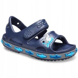 Crocs sandały dla dzieci Crocs Fl Shark Band Sandal B granatowe 206365 410 3