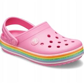 Crocs dla dzieci Crocband Rainbow Glitter Clg K różowe 206151 669 3