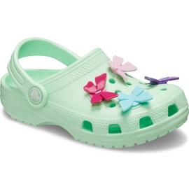 Crocs dla dzieci Classic Butterfly Charm Clg Ps zielone 206179 3TI 2