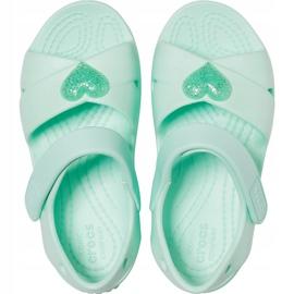 Crocs sandały dla dzieci Classic Cross Strap Sandal Ps neo miętowe 206245 3TI zielone 1