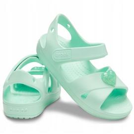 Crocs sandały dla dzieci Classic Cross Strap Sandal Ps neo miętowe 206245 3TI zielone 2