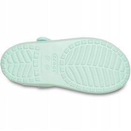 Crocs sandały dla dzieci Classic Cross Strap Sandal Ps neo miętowe 206245 3TI zielone 5