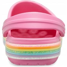 Crocs dla dzieci Crocband Rainbow Glitter Clg K różowe 206151 669 4