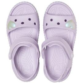 Crocs sandały dla dzieci Crocband Imagination Sandal Ps fioletowe 206145 530 1