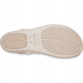 Crocs sandały damskie Brooklyn Low Wedge W multi stucco 206453 93T beżowy 5