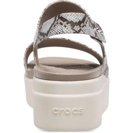 Crocs sandały damskie Brooklyn Low Wedge W multi stucco 206453 93T beżowy 4