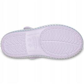 Crocs sandały dla dzieci Crocband Imagination Sandal Ps fioletowe 206145 530 4