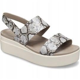 Crocs sandały damskie Brooklyn Low Wedge W multi stucco 206453 93T beżowy 3