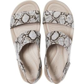 Crocs sandały damskie Brooklyn Low Wedge W multi stucco 206453 93T beżowy 1