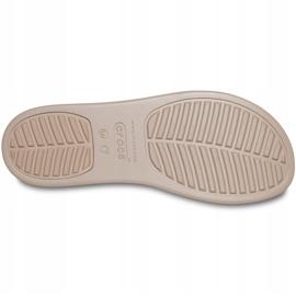 Crocs klapki damskie Brooklyn Mid Wedge W multi stucco 206219 93T beżowy 5
