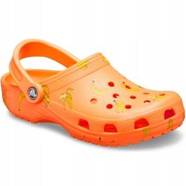 Crocs dla dzieci Classic Vacay Vibes Clog pomarańczowe 206375 801 2