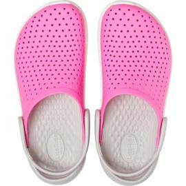 Crocs dla dzieci LiteRide Clog Kids różowo-białe 205964 6QR różowe 1