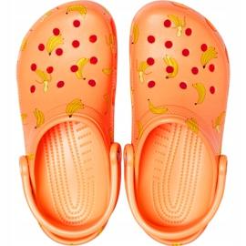 Crocs dla dzieci Classic Vacay Vibes Clog pomarańczowe 206375 801 1