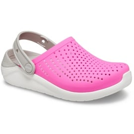 Crocs dla dzieci LiteRide Clog Kids różowo-białe 205964 6QR różowe 3