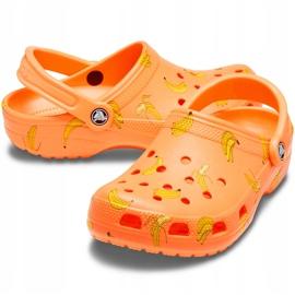 Crocs dla dzieci Classic Vacay Vibes Clog pomarańczowe 206375 801 3