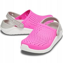 Crocs dla dzieci LiteRide Clog Kids różowo-białe 205964 6QR różowe 2