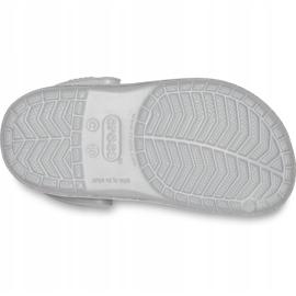 Crocs dla dzieci Crocband Glitter Clog Kids srebrne 205936 040 srebrny 5