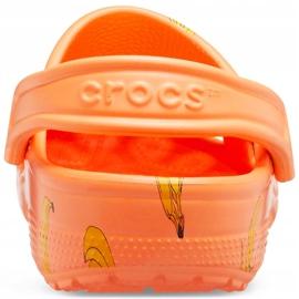 Crocs dla dzieci Classic Vacay Vibes Clog pomarańczowe 206375 801 4