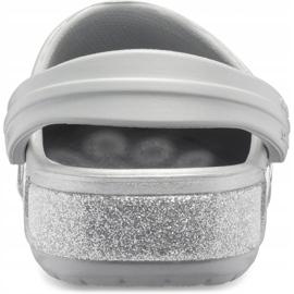 Crocs dla dzieci Crocband Glitter Clog Kids srebrne 205936 040 srebrny 4