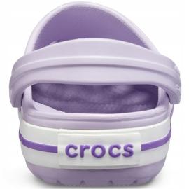Crocs dla dzieci Crocband Clog K fioletowe 204537 5P8 4