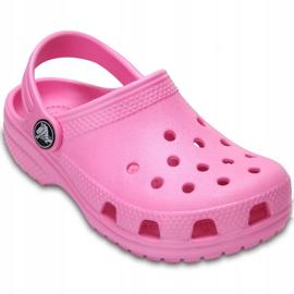 Crocs dla dzieci Crocband Classic Clog K Kids różowe 204536 6I2 3