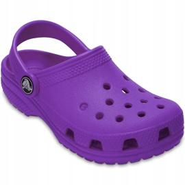 Crocs dla dzieci Crocband Classic Clog K Kids fioletowe 204536 57H 3