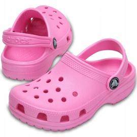 Crocs dla dzieci Crocband Classic Clog K Kids różowe 204536 6I2 2