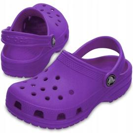Crocs dla dzieci Crocband Classic Clog K Kids fioletowe 204536 57H 2
