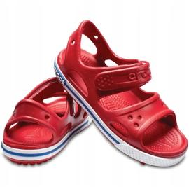Crocs sandały dla dzieci Crocband Ii Sandal Ps Kids czerwono-niebieskie 14854 6OE czerwone 2