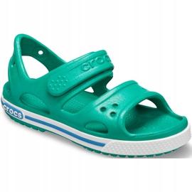 Crocs sandały dla dzieci Crocband Ii Sandal Ps Kids zielono-niebieskie 14854 3TV zielone 3