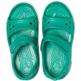 Crocs sandały dla dzieci Crocband Ii Sandal Ps Kids zielono-niebieskie 14854 3TV zielone 1