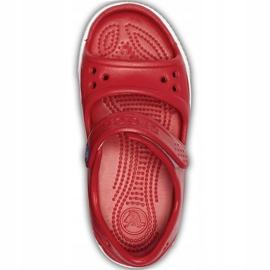 Crocs sandały dla dzieci Crocband Ii Sandal Ps Kids czerwono-niebieskie 14854 6OE czerwone 1