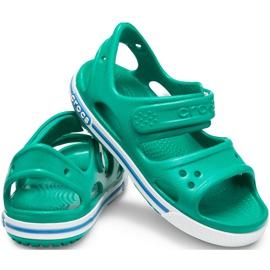 Crocs sandały dla dzieci Crocband Ii Sandal Ps Kids zielono-niebieskie 14854 3TV zielone 2