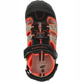 Sandały dla chłopca 4F multikolor HJL20 JSAM002 90S czarne wielokolorowe 1