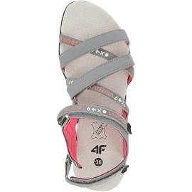 Sandały dla dziewczynki 4F multikolor HJL20 JSAD001 90S pomarańczowe różowe szare 1
